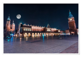 Poster  World Famous Cracow Main Square