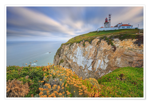 Poster Sunset on Cabo da Roca Sintra Portugal