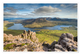Poster  View from Stac Pollaidh in Scotland - Michael Valjak