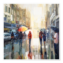Johnny Morant - Brick Lane in the Rain