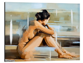 Tableau en aluminium  Pensive - Johnny Morant