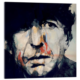 Verre acrylique  Leonard Cohen - Paul Paul Lovering Arts