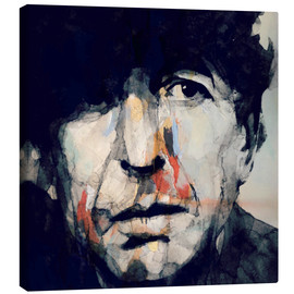 Toile  Leonard Cohen - Paul Paul Lovering Arts