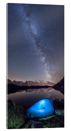 Tableau en verre acrylique  Panoramic of Milky Way on Mont Blanc, France - Roberto Sysa Moiola