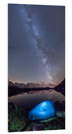 Tableau en PVC  Panoramic of Milky Way on Mont Blanc, France - Roberto Sysa Moiola