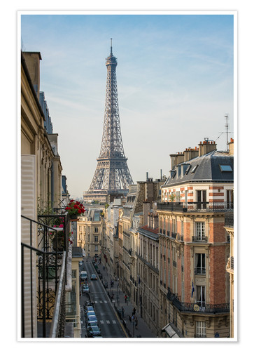 Poster View over the rooftops of Paris, France