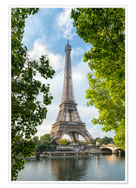 Poster  Eiffel Tower on the Seine River, Paris, France - Jan Christopher Becke