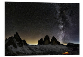 Dieter Meyrl - Lonely Tent under Milky way over Tre cime - Dolomites