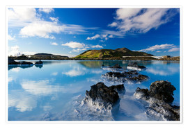 Poster  Blue Lagoon in Iceland - Dieter Meyrl
