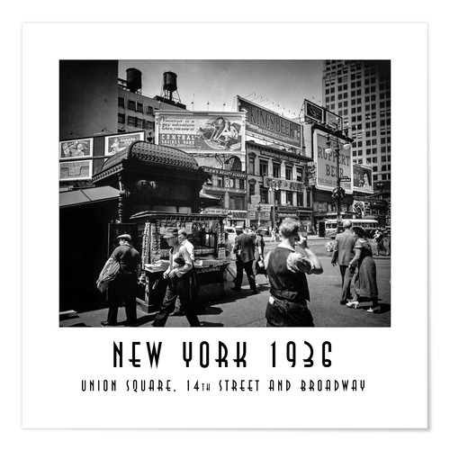 Poster Historic New York: Union Square, 14th Street and Broadway