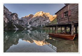 Poster Braies Lake South Tyrol Italy