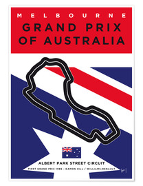 Poster Melbourne, Grand Prix of Australia