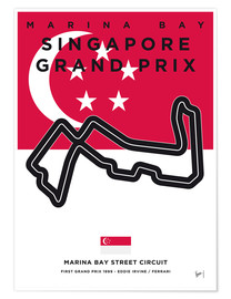 Poster Marina Bay, Singapore Grand Prix