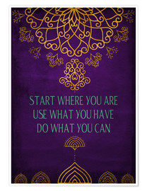 Poster  Do what you can - Sybille Sterk