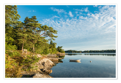 Poster Archipelago on the Baltic Sea coast in Sweden