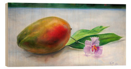 Tableau en bois  julie mango with orchid - Jonathan Guy-Gladding