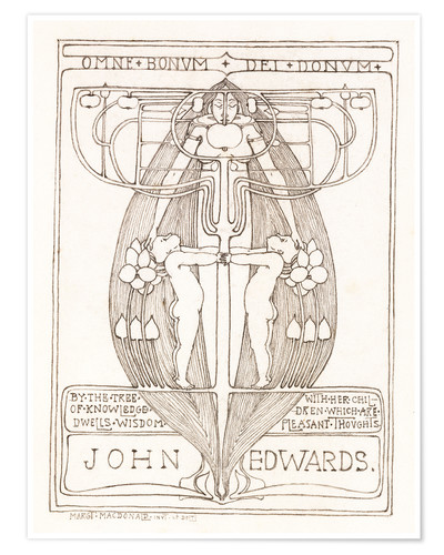 Poster Design for a Bookplate