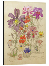 Tableau en aluminium  Butterfly Flower, Bowling - Charles Rennie Mackintosh