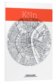 Forex  Cologne city map - campus graphics