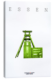 Tableau sur toile  Essen, mine de charbon de Zollverein - campus graphics
