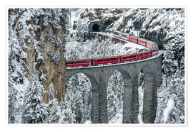 Poster Bernina Express Train, Filisur, Switzerland