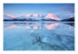 Poster Sunrise,Lyngen Alps,Troms,Norway