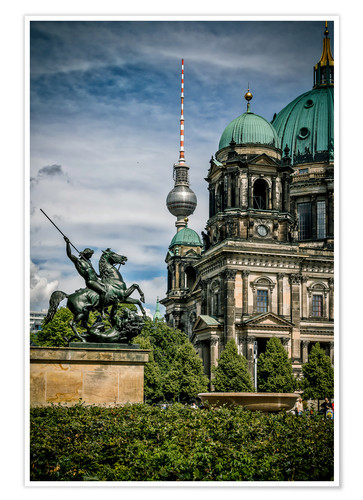 Poster Berlin Cathedral in front of TV tower