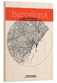 Bois  Barcelona Card City Black and White - campus graphics