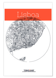 campus graphics - Lisbon map city black and white