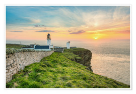 Poster Sunset at Dunnet Head in Scotland