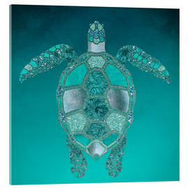 Verre acrylique  Mermaid  Turtle - Andrea Haase