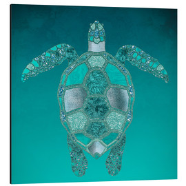 Tableau en aluminium  Mermaid  Turtle - Andrea Haase