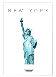 Poster New York City Statue of Liberty