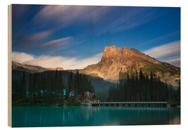Tableau en bois  Emerald Lake, British Columbia - Long Exposure - Circumnavigation