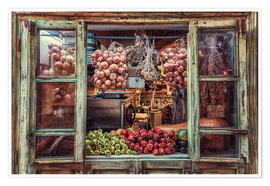 Poster Window with vegetables