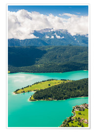 Poster Walchensee from above
