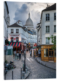 Verre acrylique  Streets of Montmartre and Sacre Coeur - Jan Christopher Becke