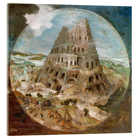 Tableau en verre acrylique  Tower of Babel - Pieter Brueghel d.J.
