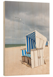 Bois  Seagull and beach chair on Sylt