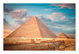 Poster  great pyramid of Giza in Egypt