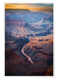 Poster  Amazing Sunrise of the Grand Canyon