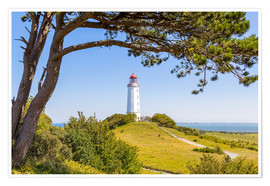 Poster  lighthouse Dornbusch at Hiddensee