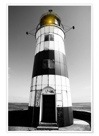 Poster Striped lighthouse