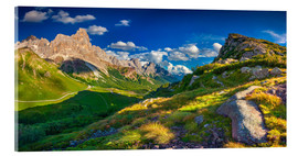 Verre acrylique  Panoramic views of the Pale di San Martino