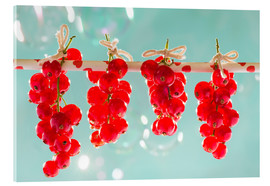 Tableau en verre acrylique  Red currants full - K&L Food Style