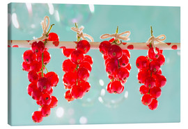 Tableau sur toile  Red currants full - K&L Food Style