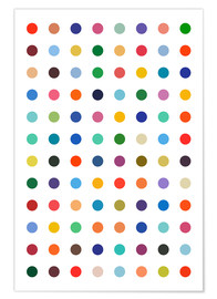 Poster  Points colorés - THE USUAL DESIGNERS