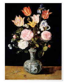 Poster Flowers in a Chinese Vase