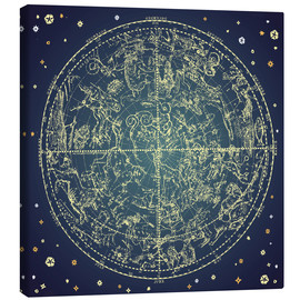 Toile  star map