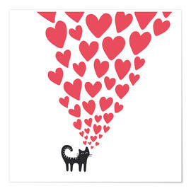 Poster  Un chat amoureux - Kidz Collection